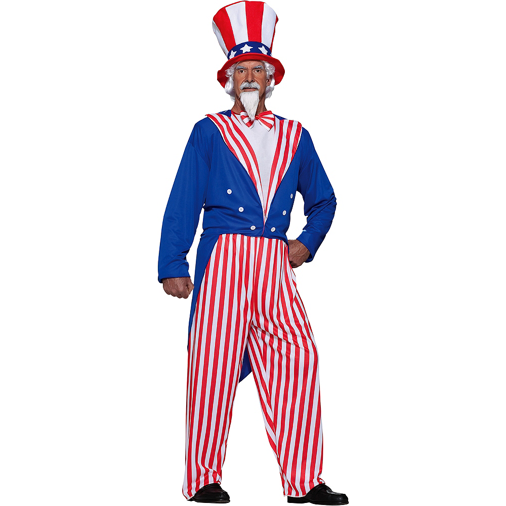 Nav Item for Adult Uncle Sam Costume Plus Size Image #1