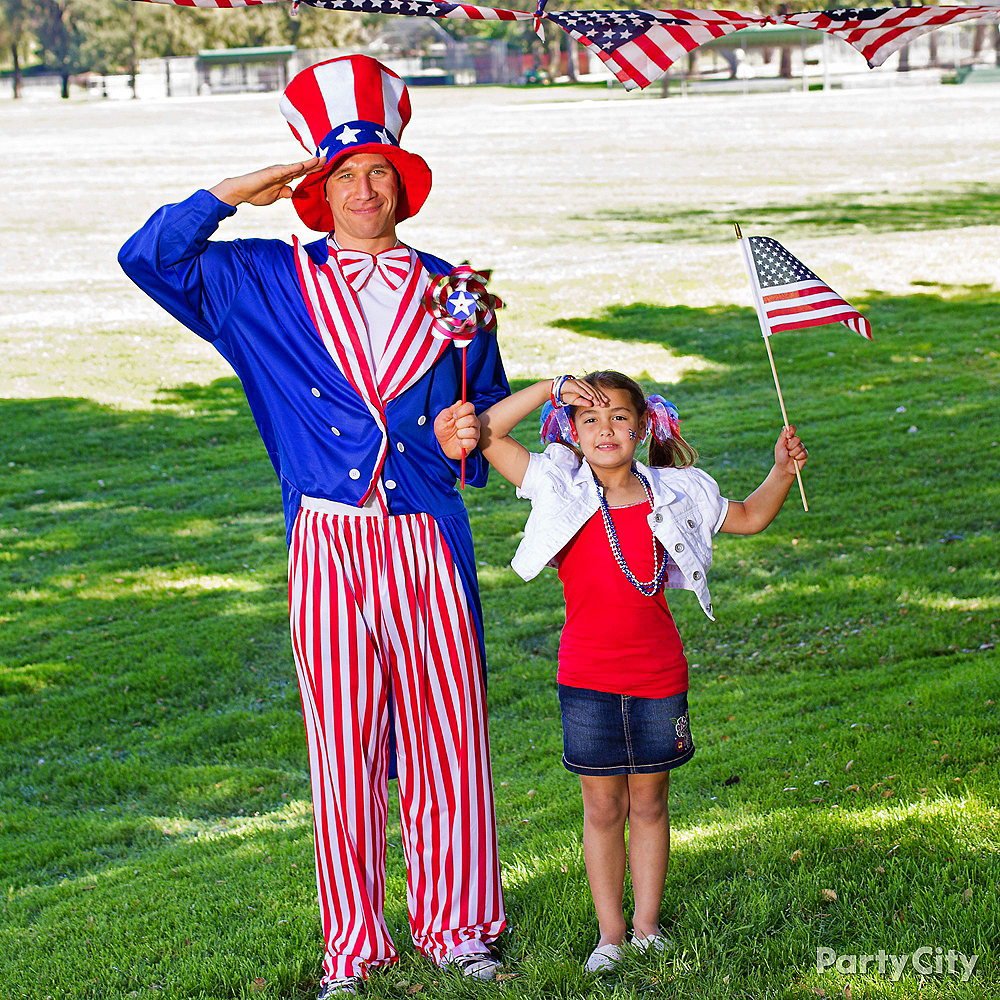 Nav Item for Adult Uncle Sam Costume Plus Size Image #2