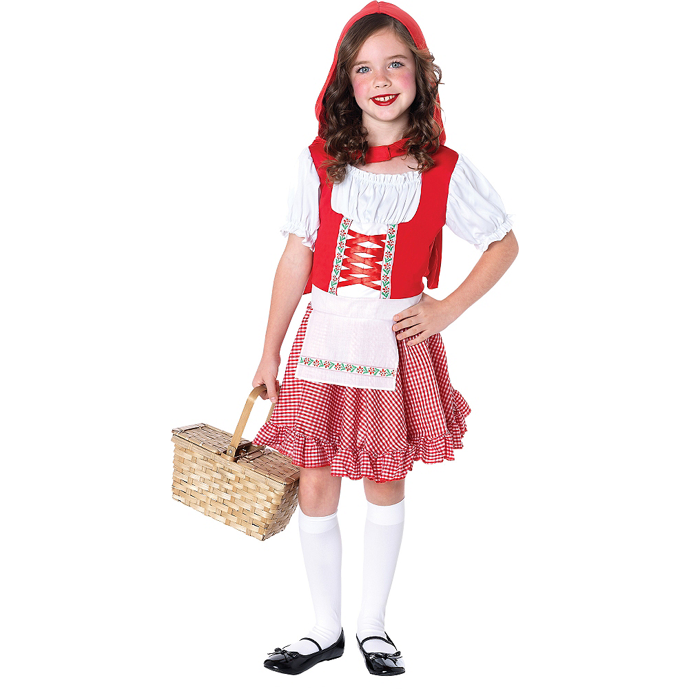 Girls Lil Miss Red Riding Hood Costume Image #1