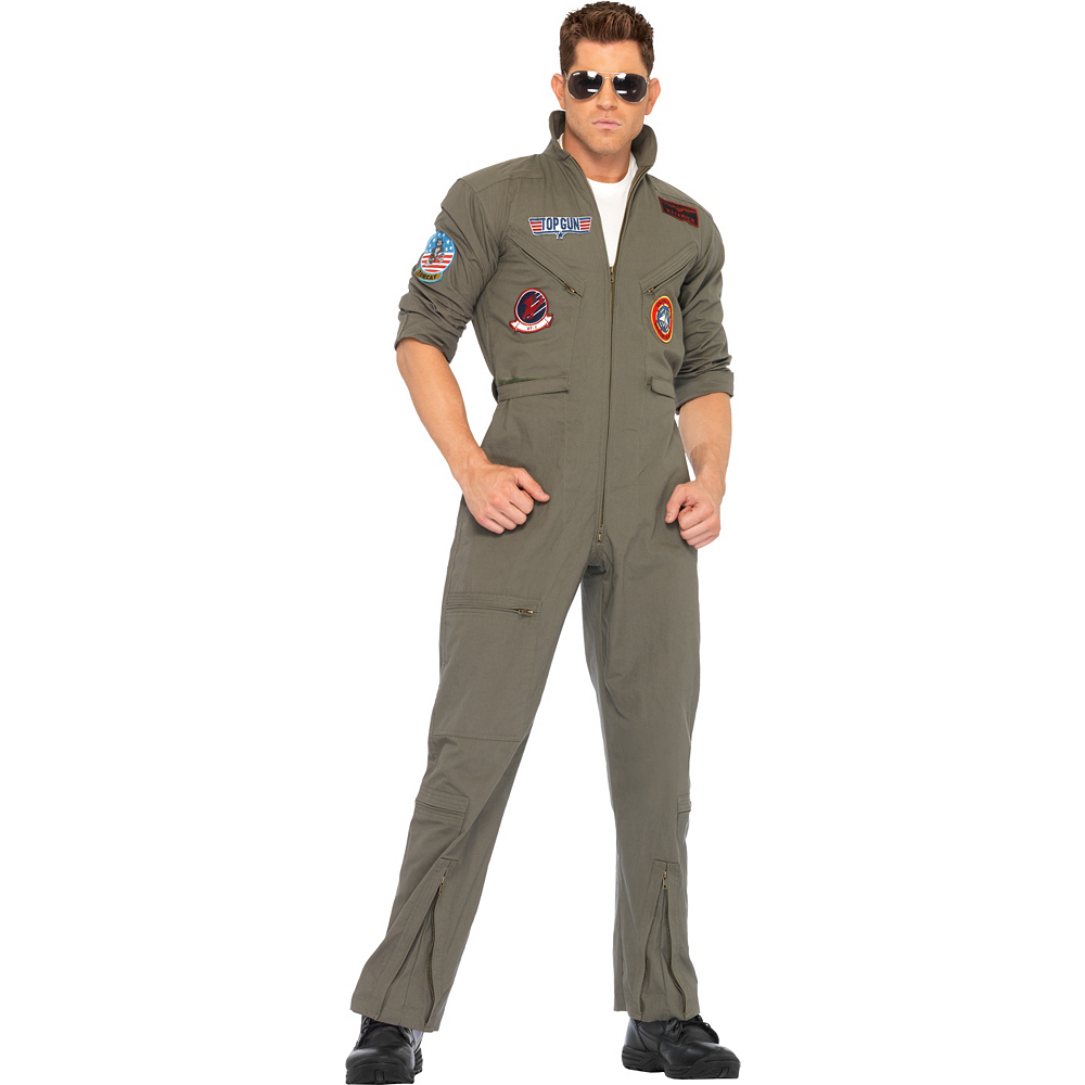 Adult Flight Suit Costume - Top Gun Image #1