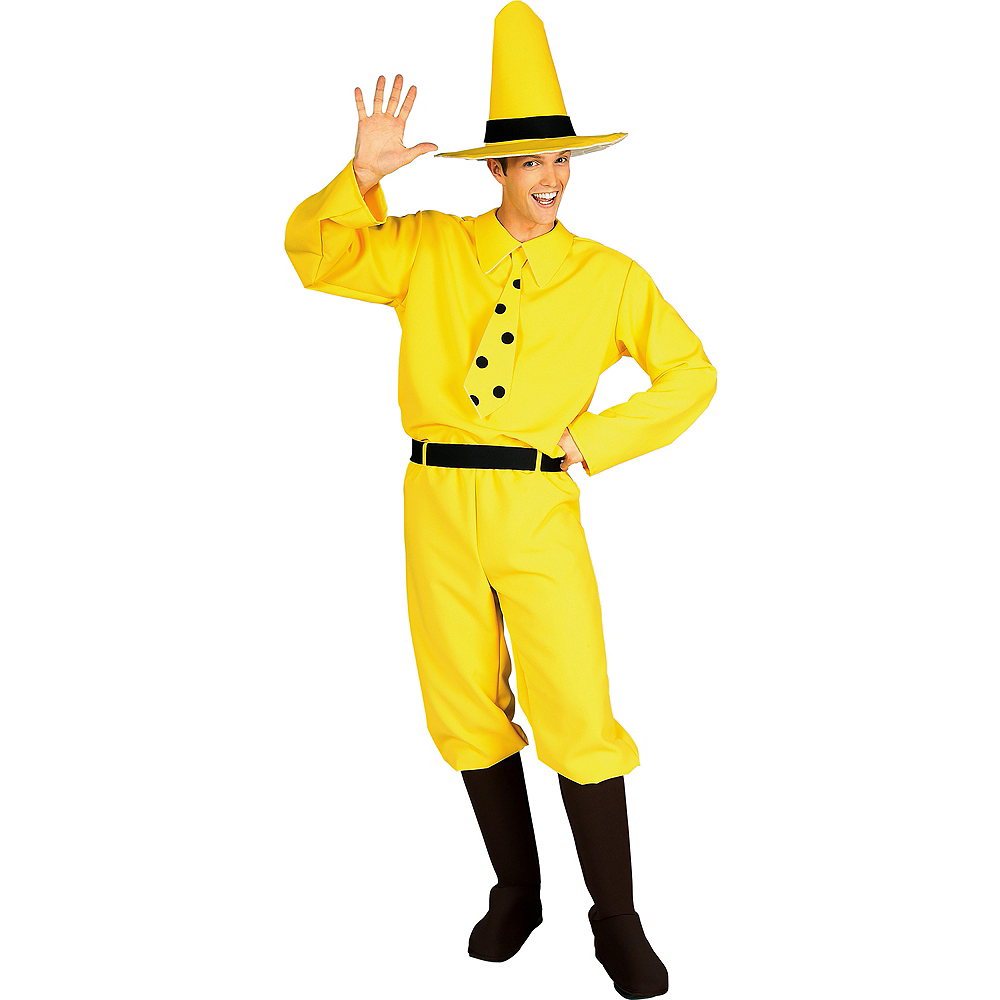 Adult The Man in the Yellow Hat Costume - Curious George Image #1