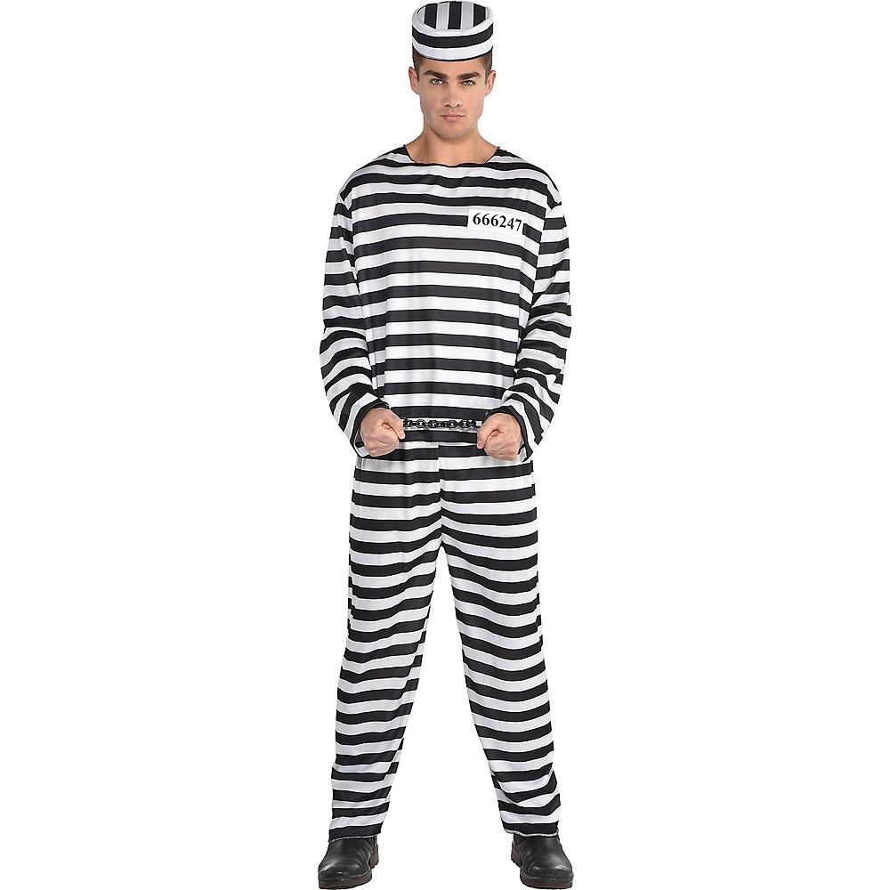 Adult Jail Bird Convict Prisoner Costume Image #1
