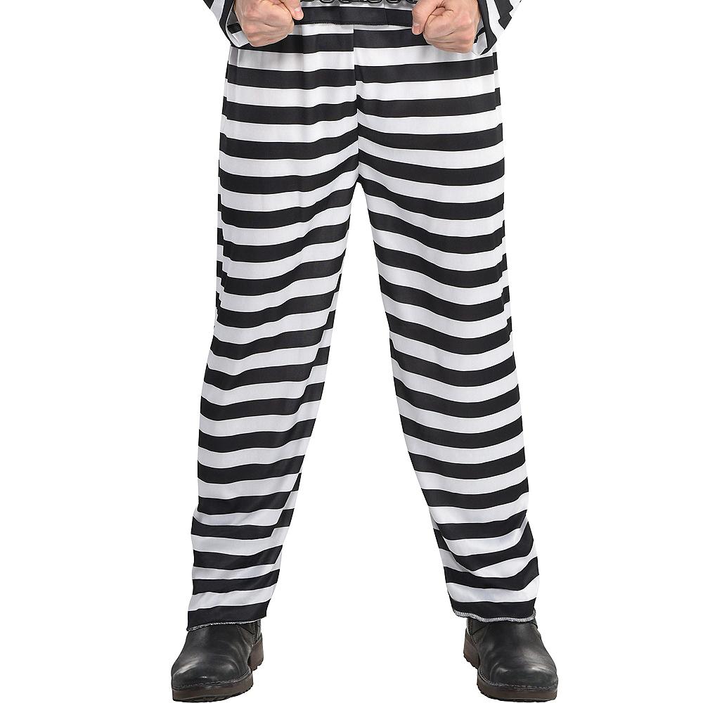 Adult Jail Bird Convict Prisoner Costume Image #5