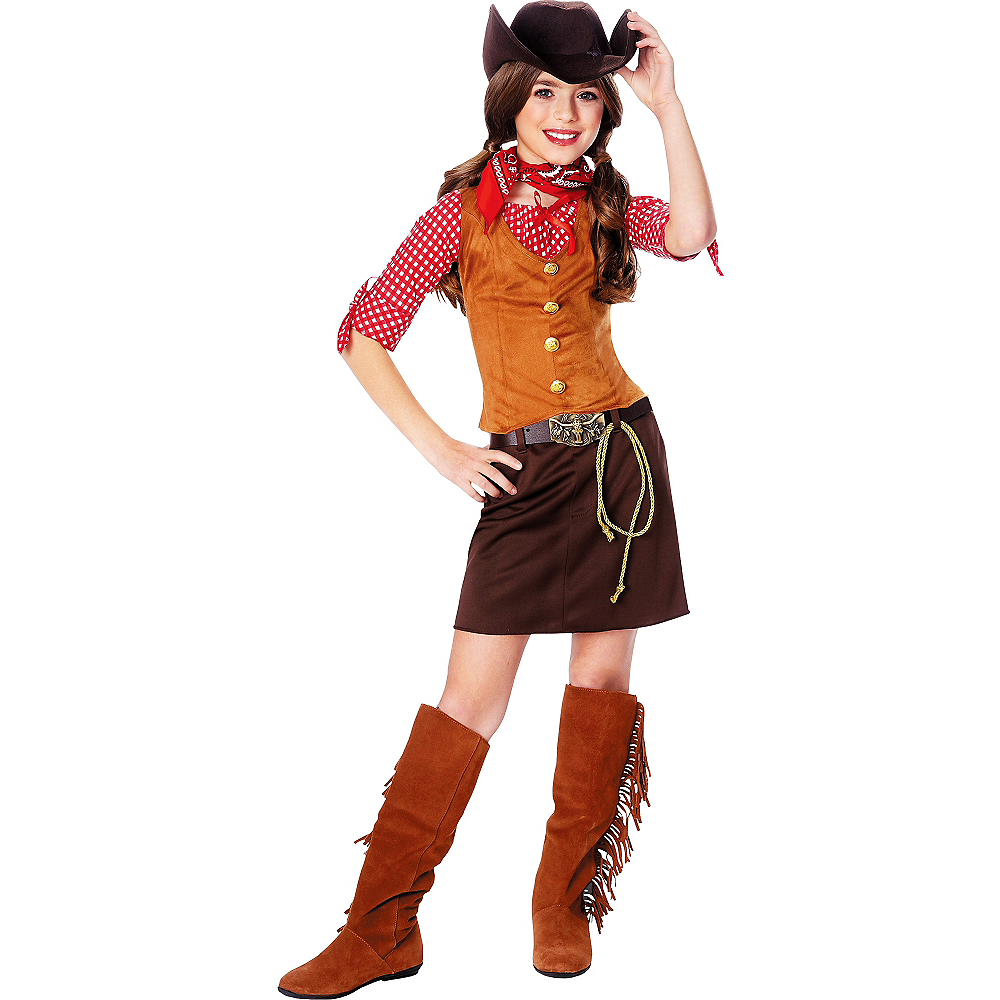 Nav Item for Girls Gunslinger Cowgirl Costume Image #1
