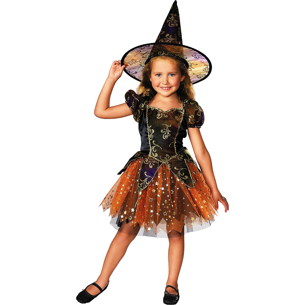 Girls Elegant Witch Costume Image #1