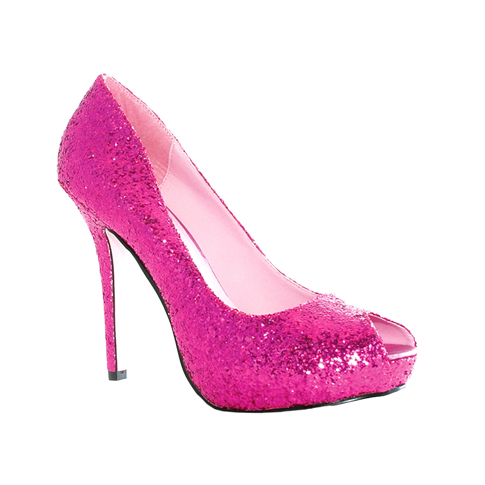 Nav Item for Fuchsia Glitter Open Toe Shoes Image #1