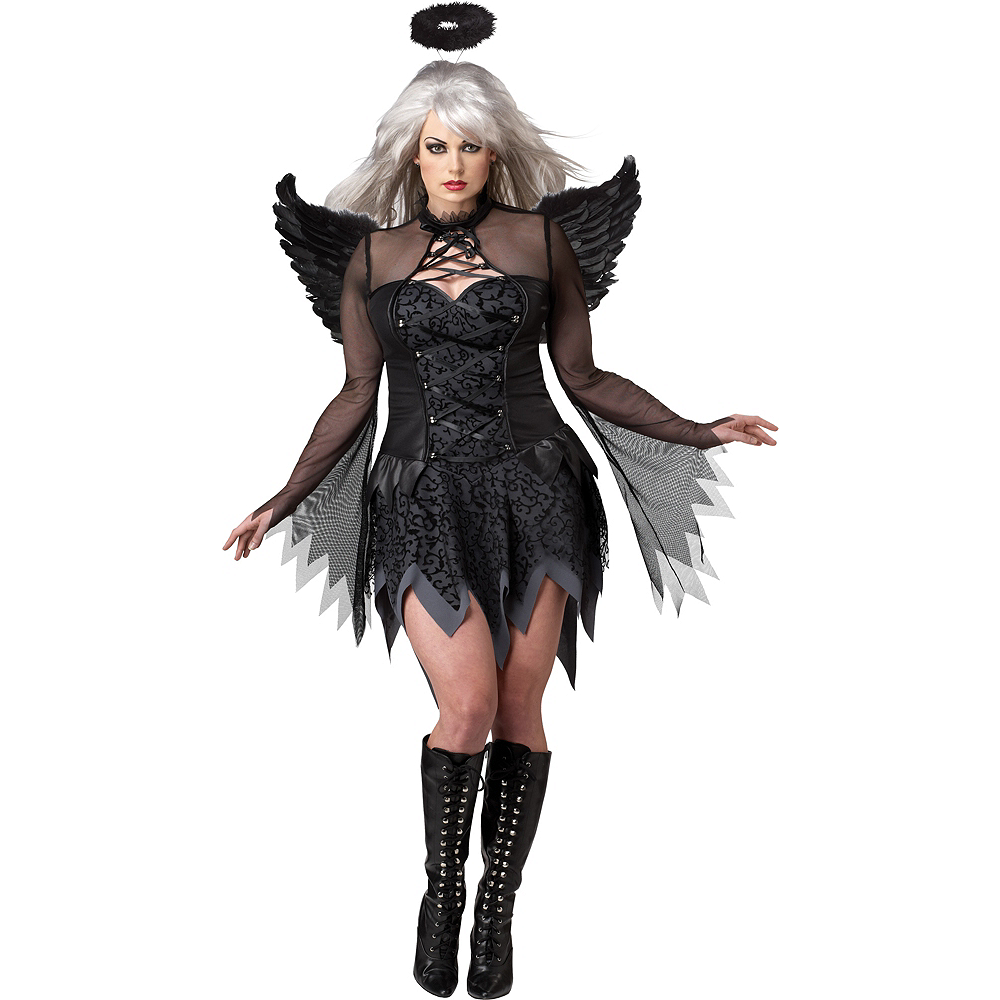 Adult Fallen Angel Costume Plus Size Image #1