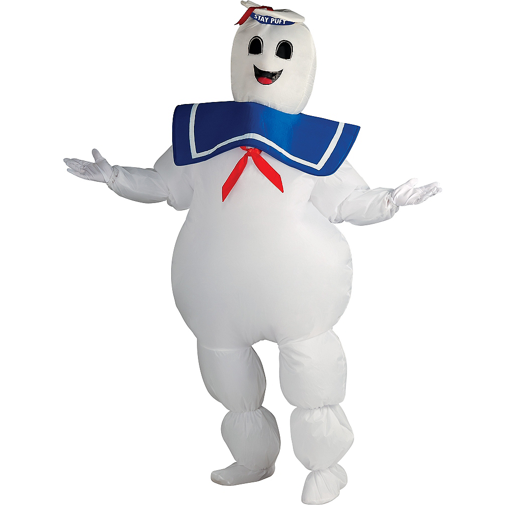 Adult Inflatable Stay Puft Marshmallow Man Costume - Ghostbusters Image #1