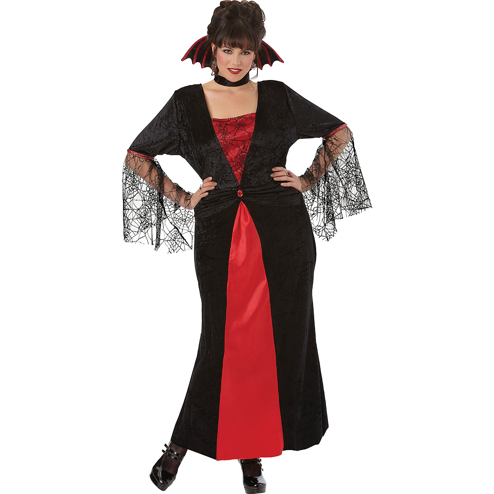 Adult Countess Vampiretta Vampire Costume Plus Size Image #1
