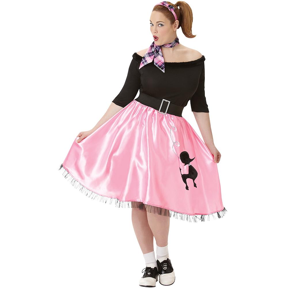 Adult Sock Hop Sweetie 50's Costume Plus Size Image #1