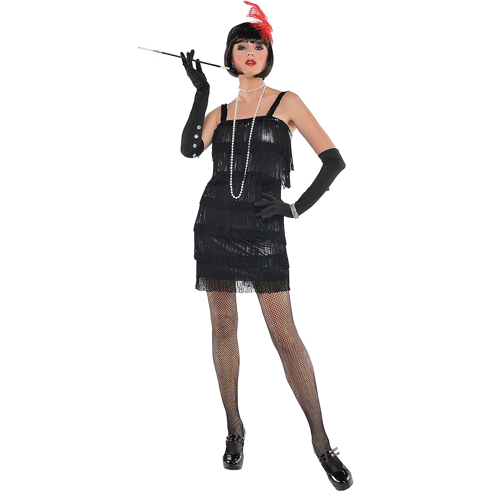 Adult Flashy Flapper Costume Image #1