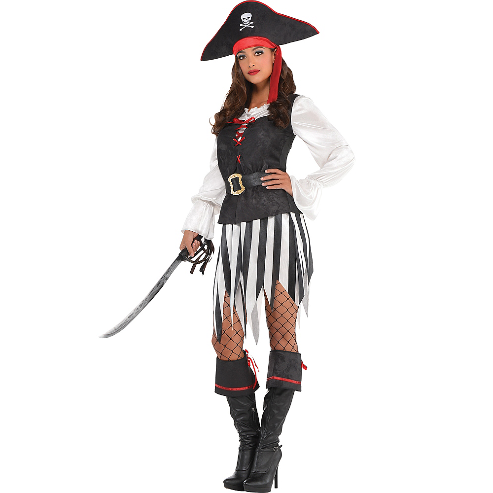 Halloween Disney High Seas Black And White 2020 Logo Adult High Sea Sweetie Pirate Costume | Party City