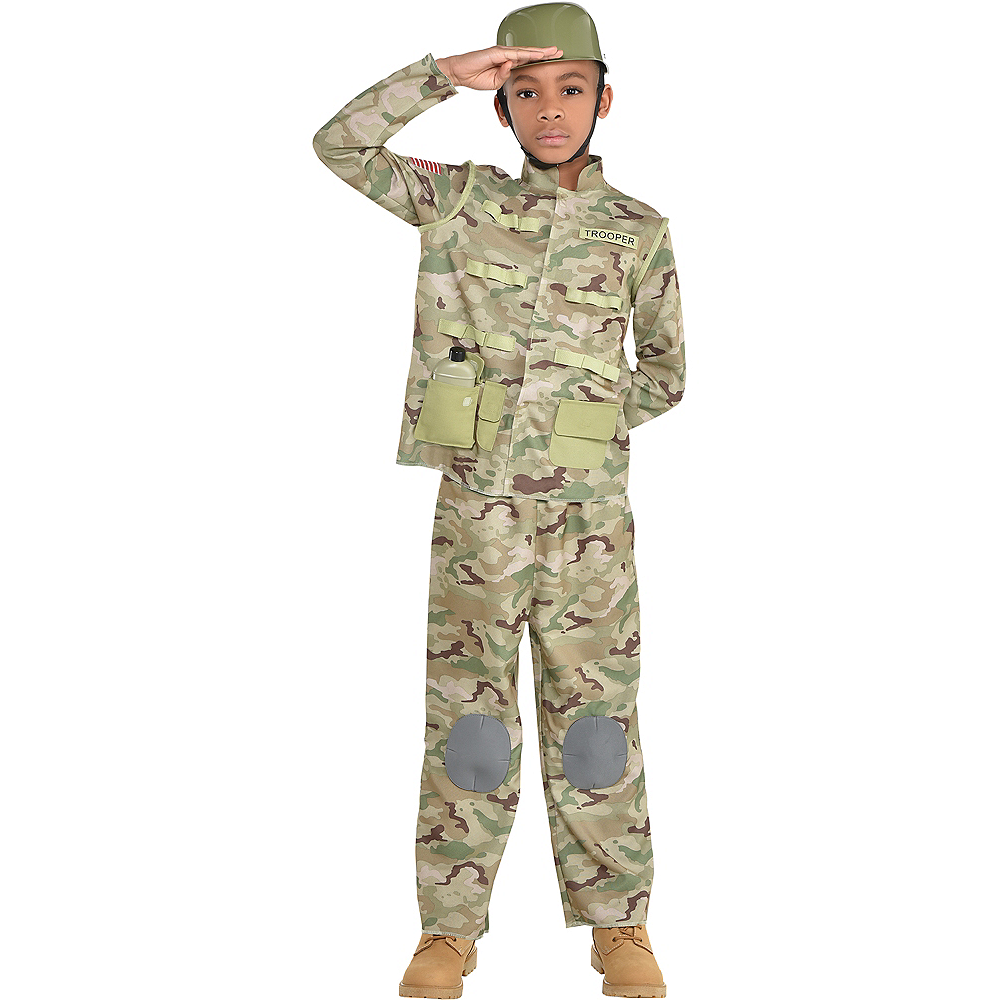 Nav Item for Boys Combat Soldier Costume Image #1