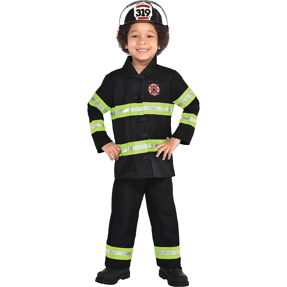 Nav Item for Boys Reflective Firefighter Costume Image #1