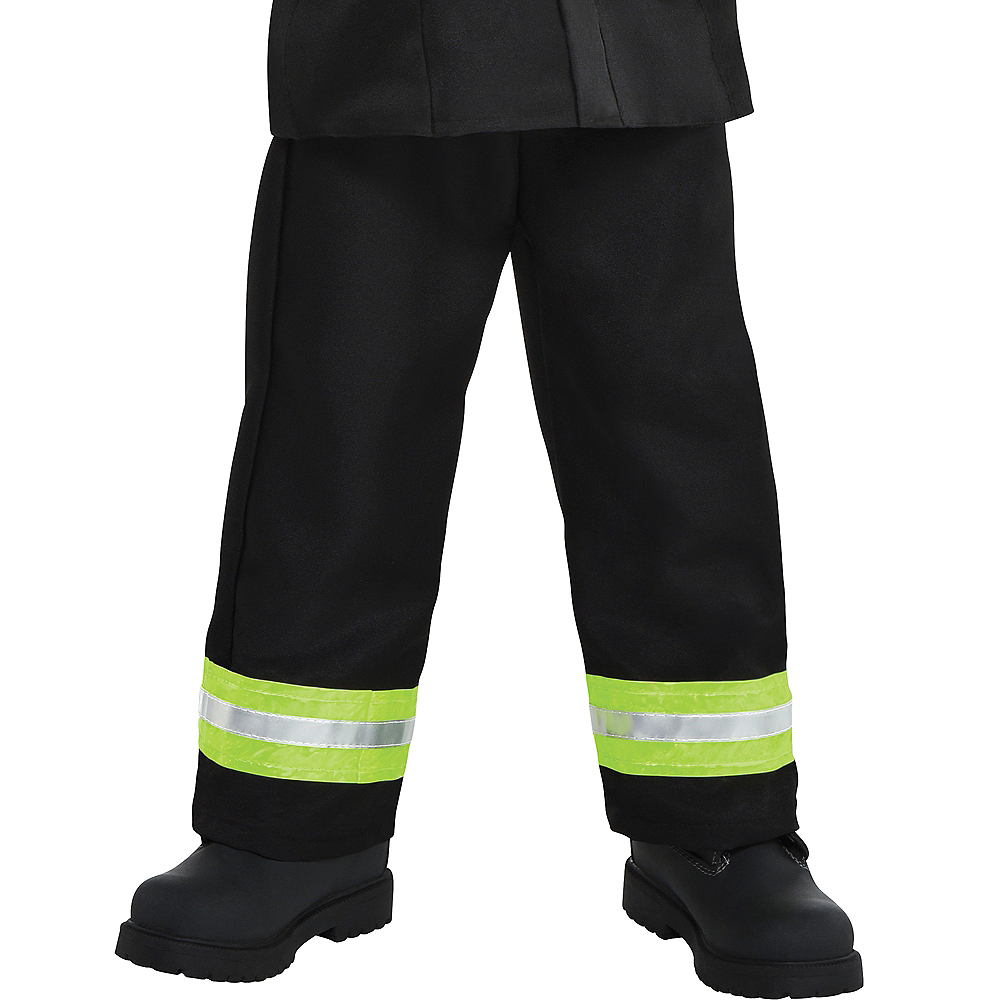 Nav Item for Boys Reflective Firefighter Costume Image #4