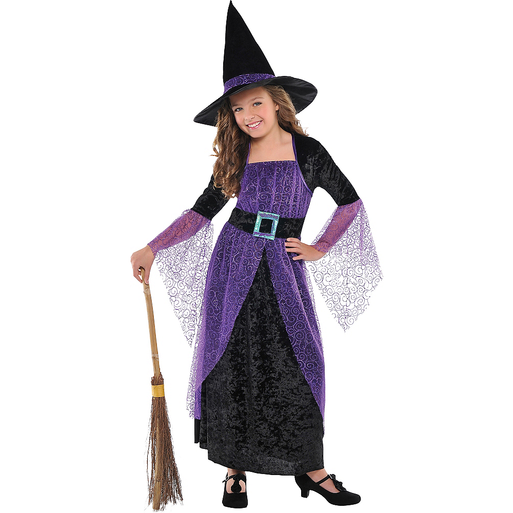 Girls Pretty Potion Witch Costume Image #1