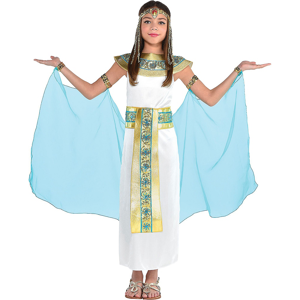 Nav Item for Girls Shimmer Cleopatra Costume Image #1
