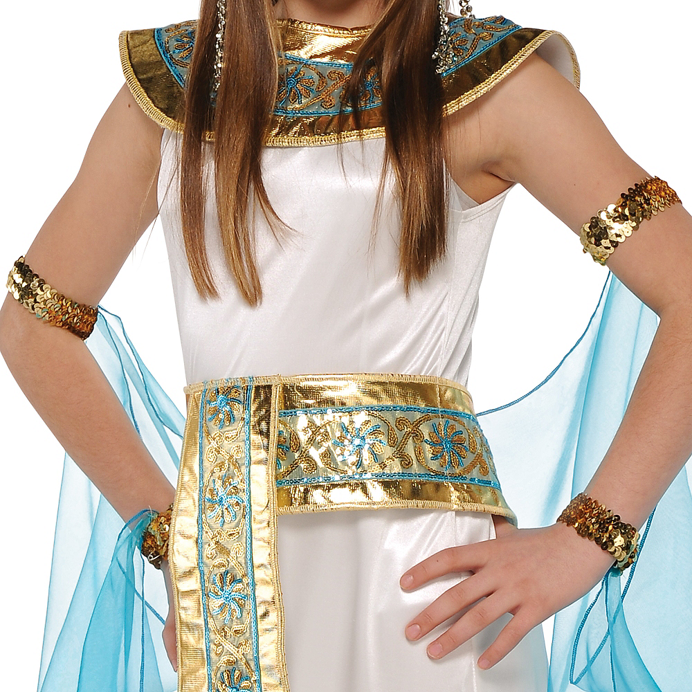 Nav Item for Girls Shimmer Cleopatra Costume Image #2