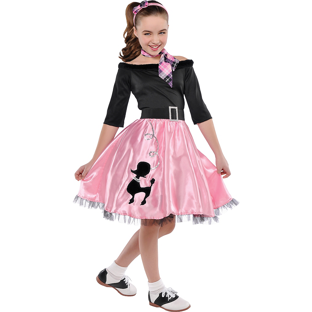 Girls Miss Sock Hop Costume Image #1