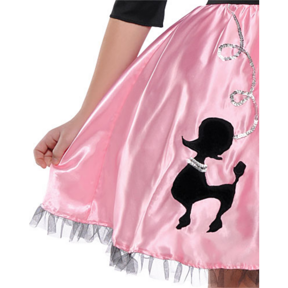 Girls Miss Sock Hop Costume Image #3