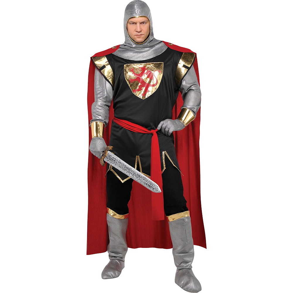 Nav Item for Adult Brave Crusader Knight Costume Plus Size Image #1