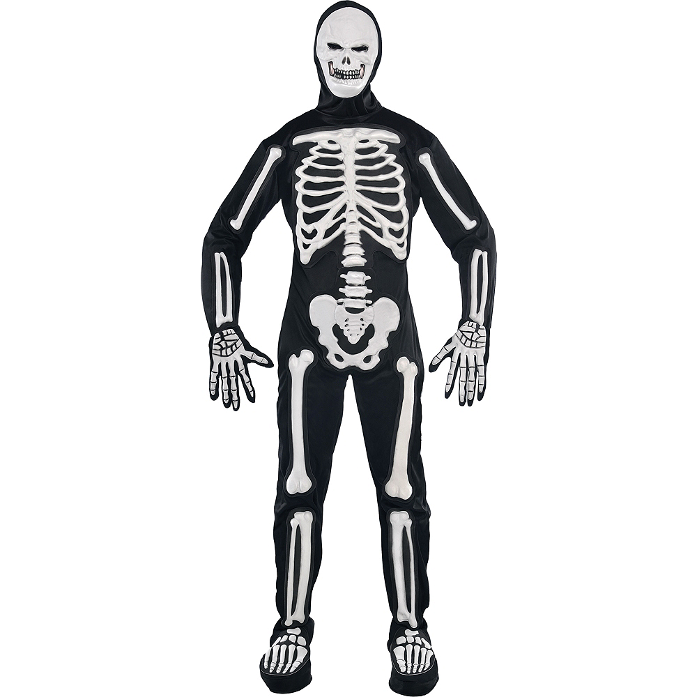 Adult Frightening Bones Skeleton Costume Party City