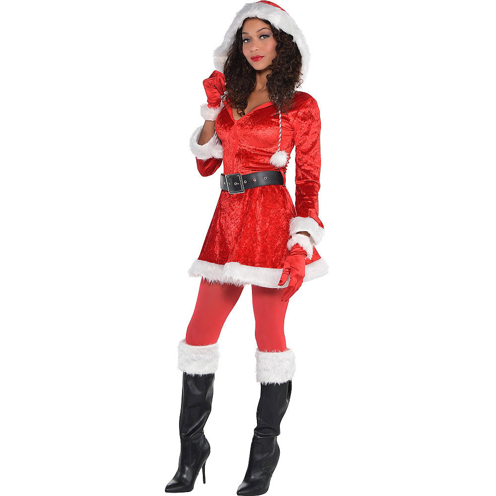 Nav Item for Adult Sassy Red Santa Costume Image #1