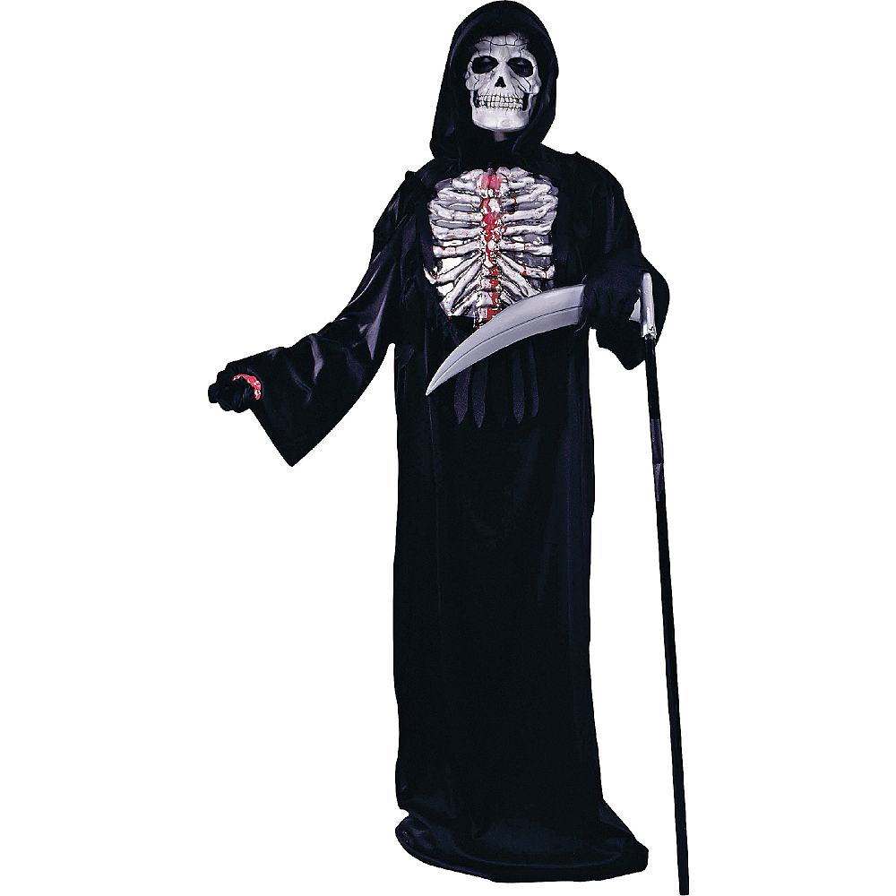 Boys Bleeding Skeleton Costume Image #1