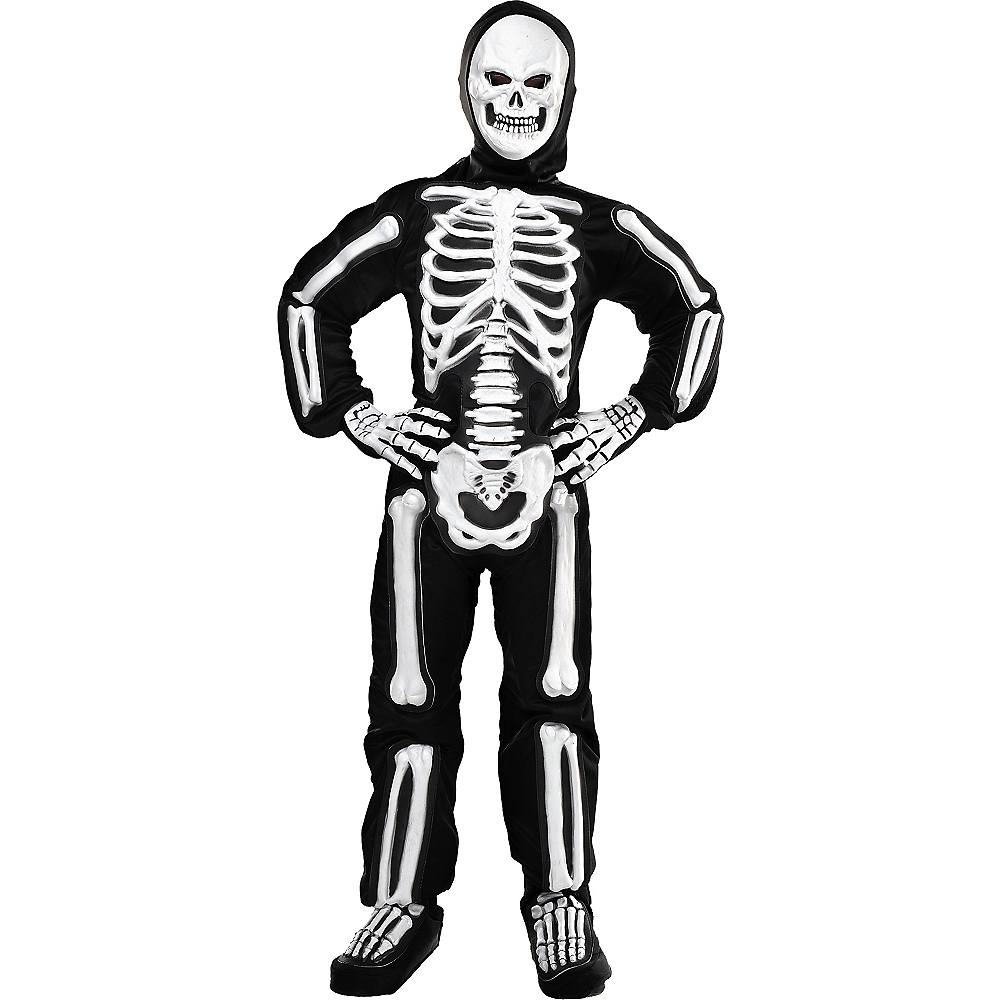 Boys Totally Skelebones Skeleton Costume Image #1