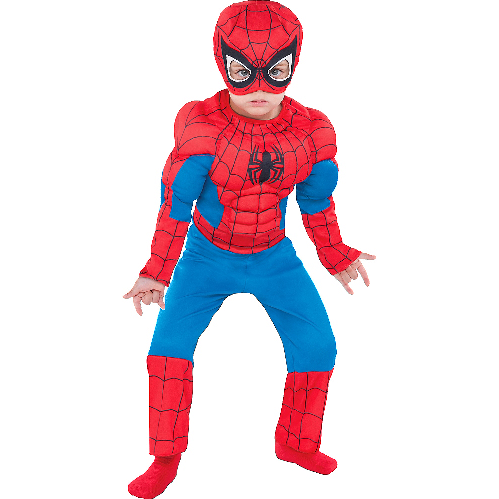 Toddler Boys Classic Spider-Man Muscle Costume Image #1