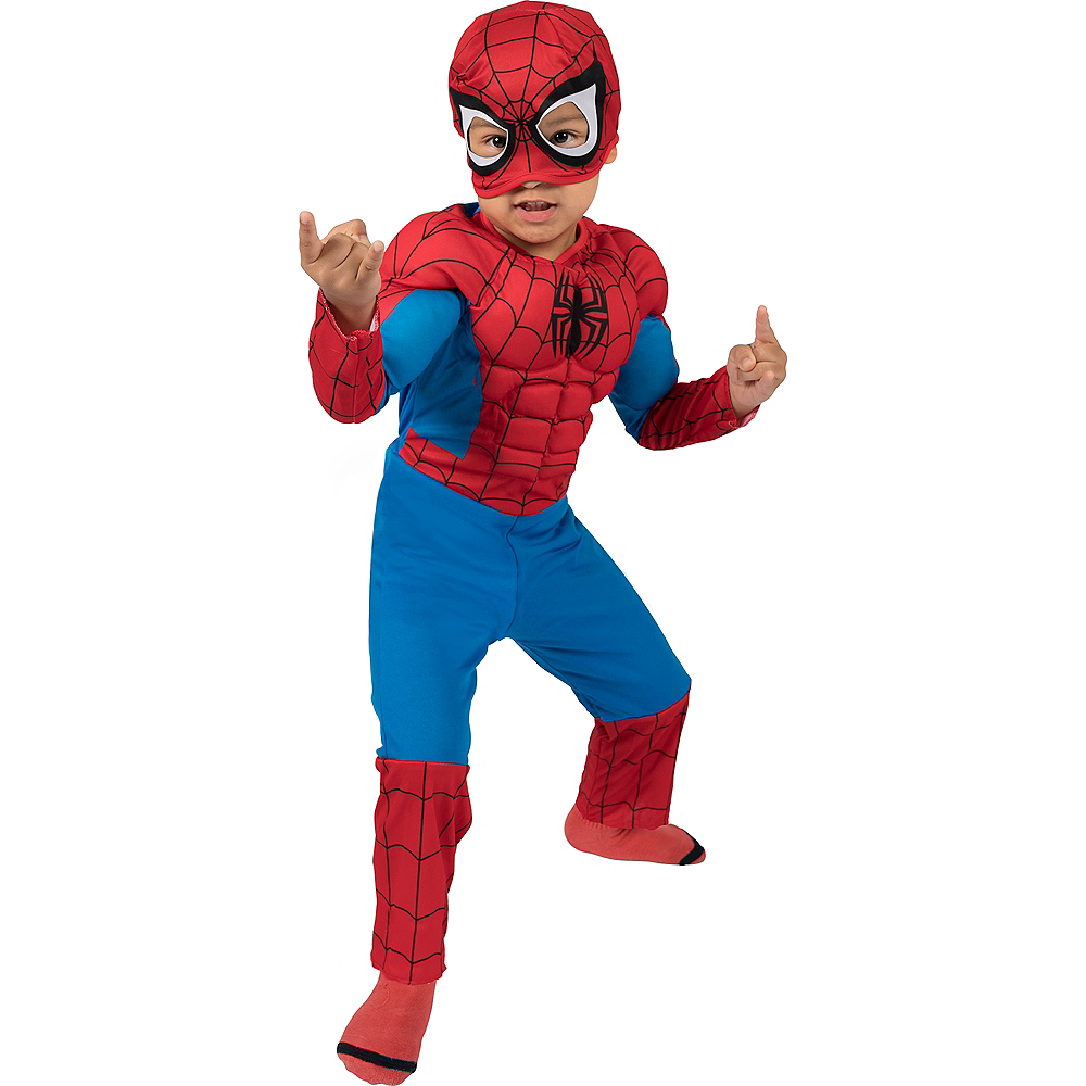 Toddler Boys Classic Spider-Man Muscle Costume Image #2