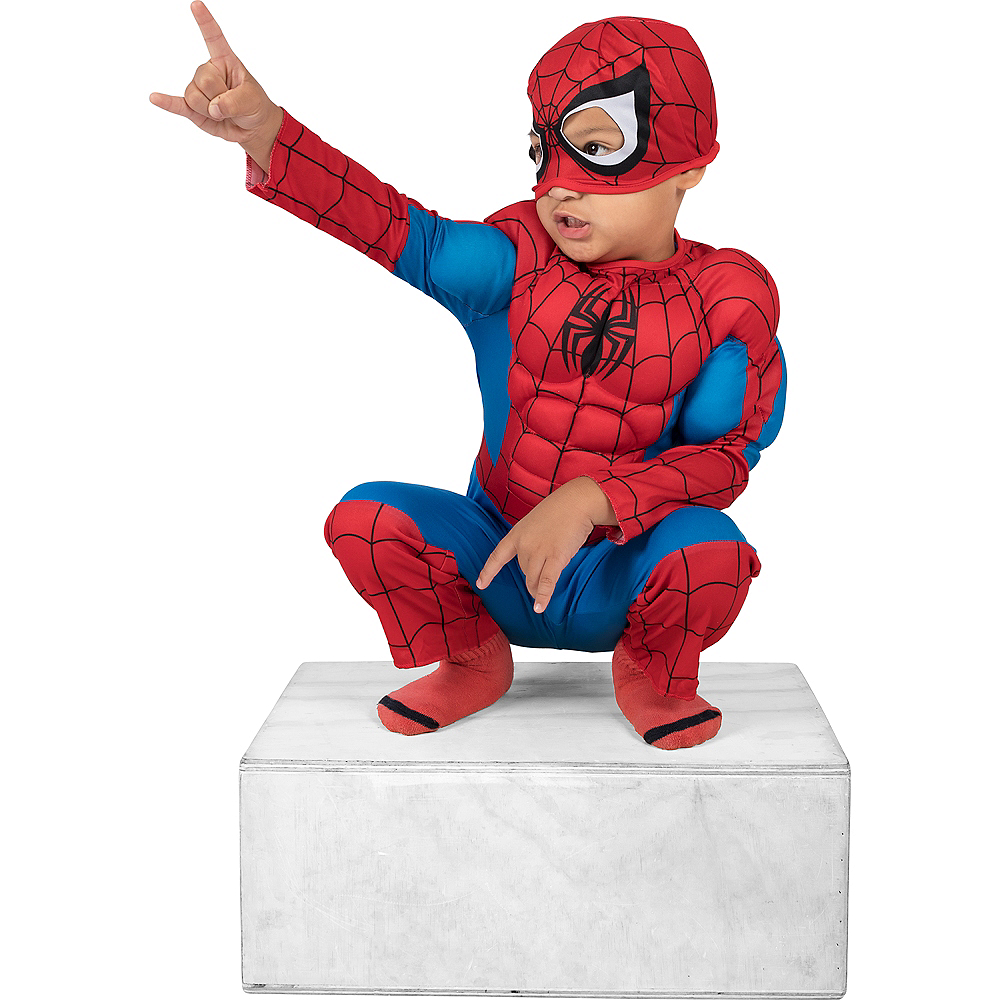 Toddler Boys Classic Spider-Man Muscle Costume Image #3