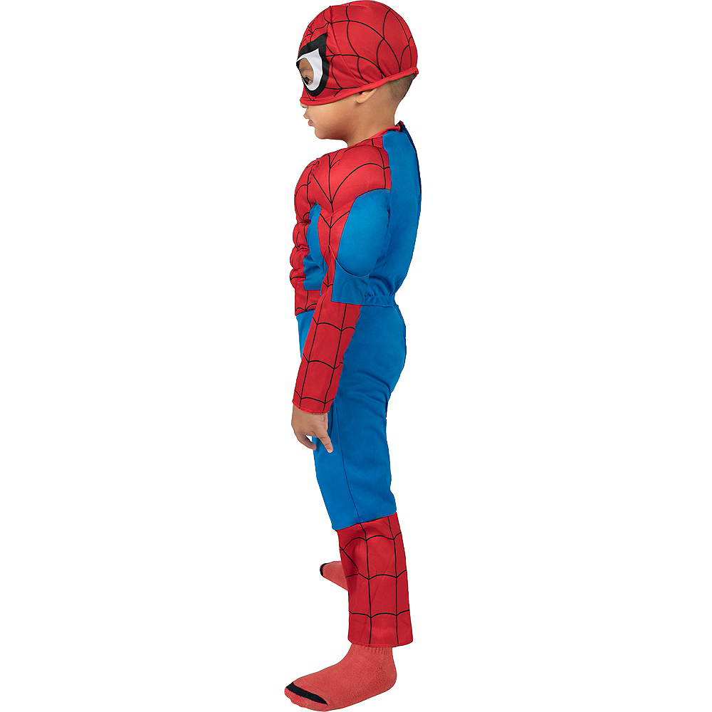 Toddler Boys Classic Spider-Man Muscle Costume Image #4