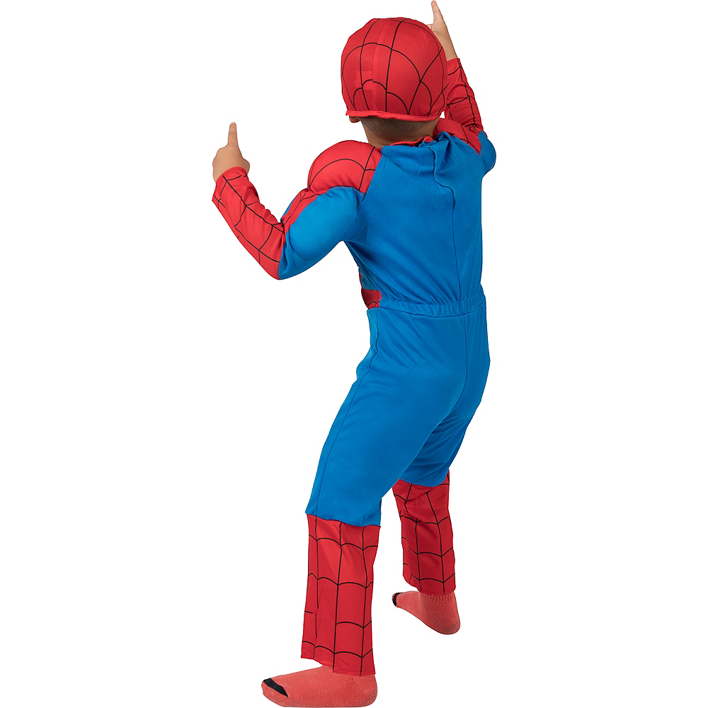 Toddler Boys Classic Spider-Man Muscle Costume Image #5