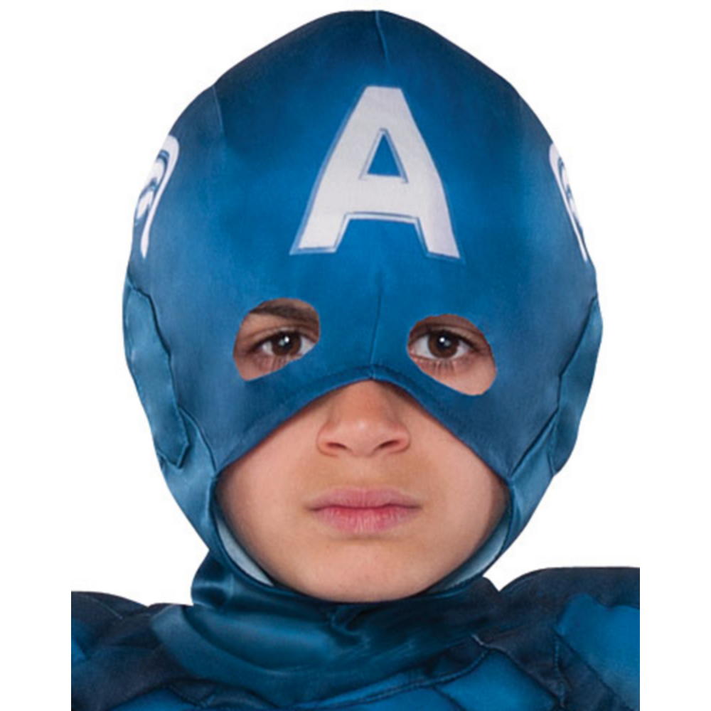 Boys Captain America Muscle Costume Image #2