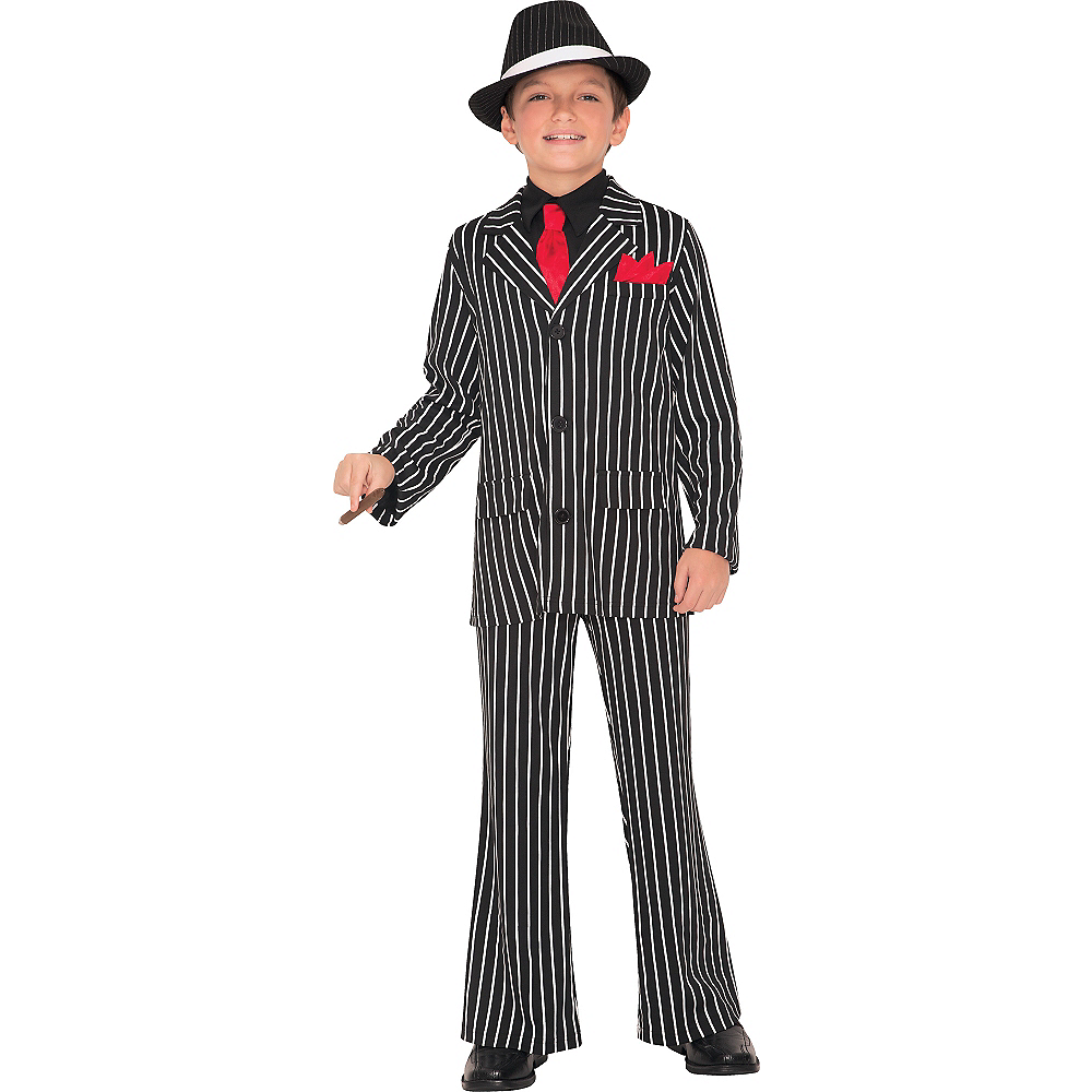 Nav Item for Boys Gangster Guy Costume Image #1