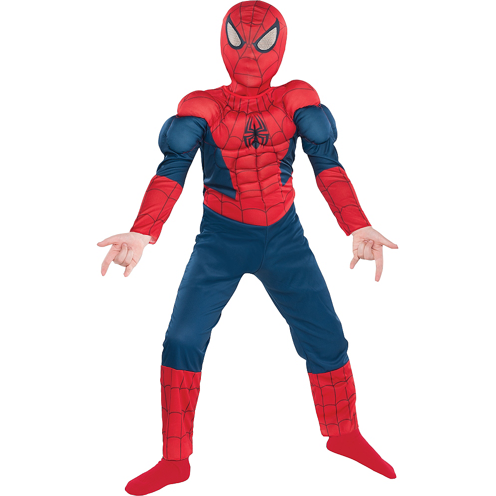 Nav Item for Boys Classic Spider-Man Muscle Costume Image #1