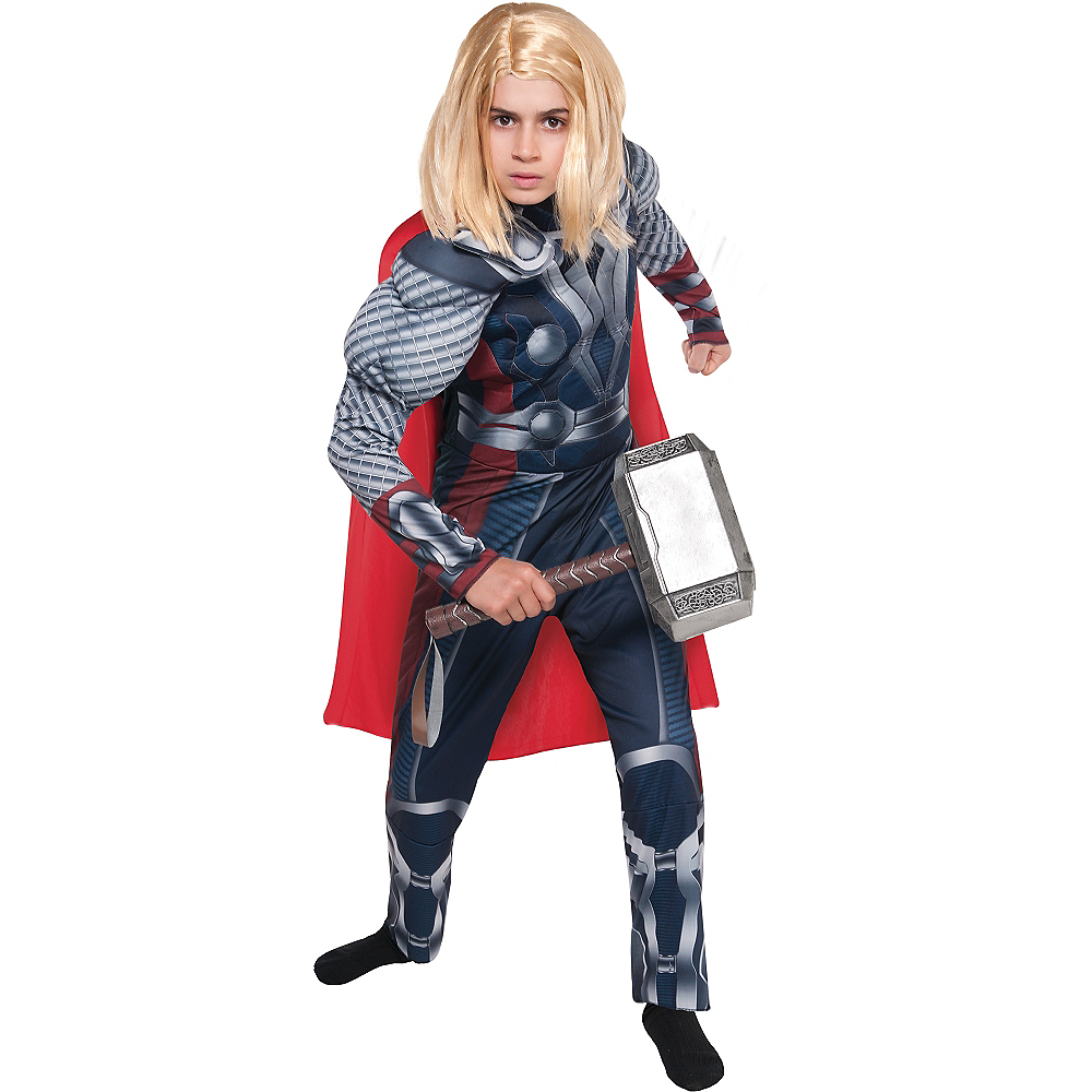 Boys Thor Muscle Costume - The Avengers Image #1