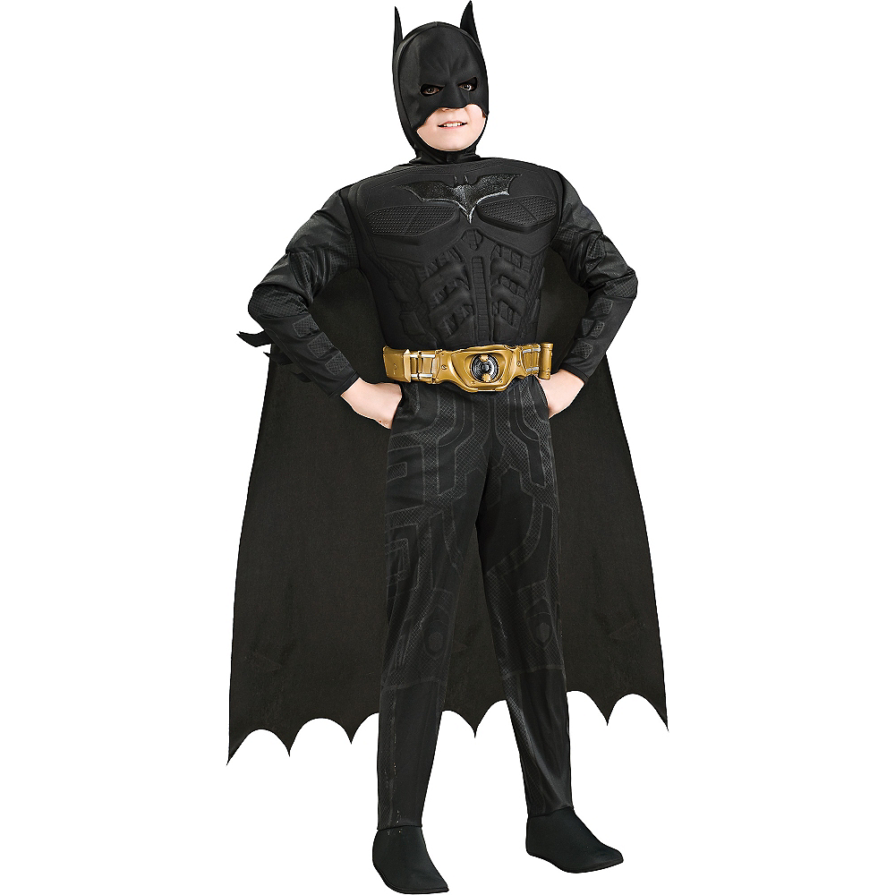 Boys Batman Muscle Deluxe Costume - The Dark Knight Image #1