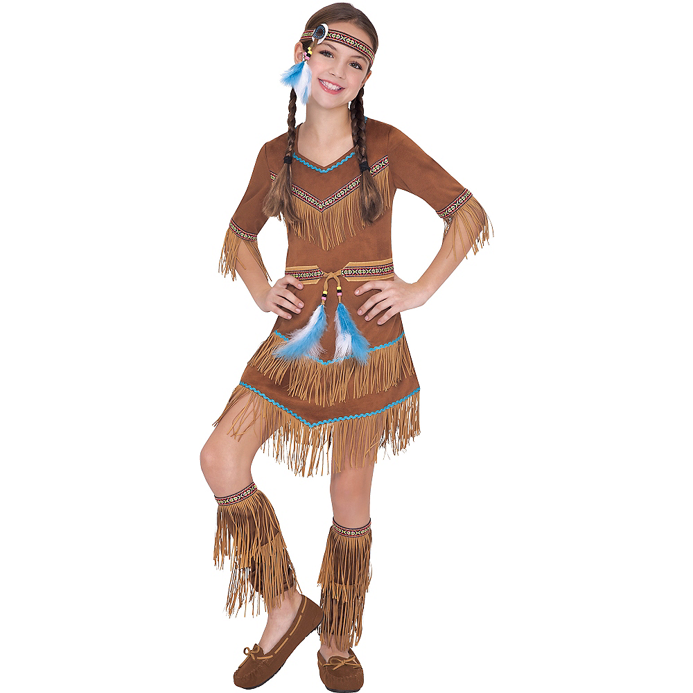 Girls Dream Catcher Cutie Native American Costume Image #1