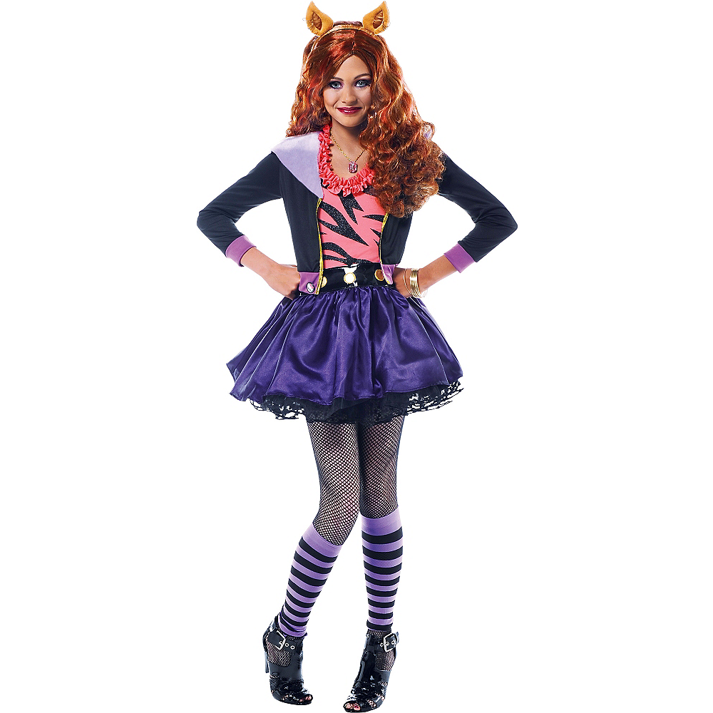 Girls Clawdeen Wolf Costume Deluxe - Monster High Image #1