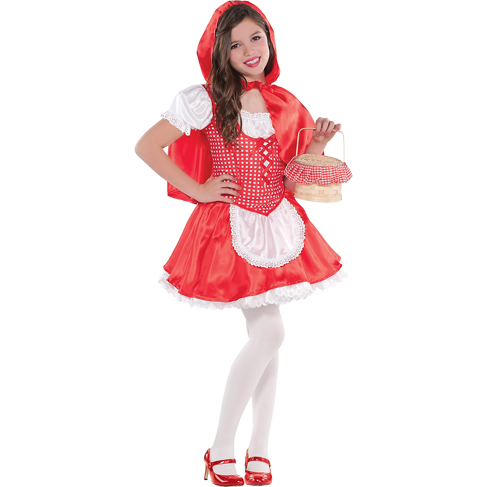 Girls Classic Red Riding Hood Costume Image #1