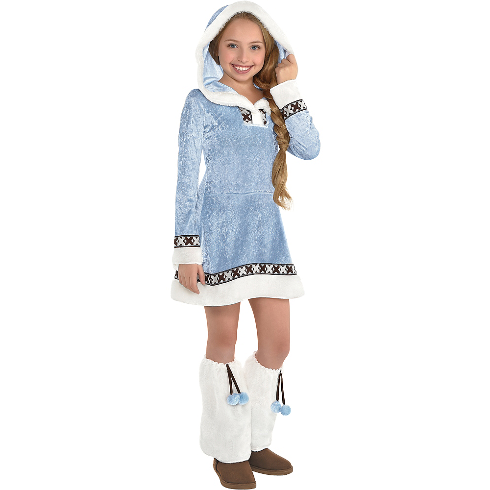 Nav Item for Girls Arctic Princess Costume Image #1