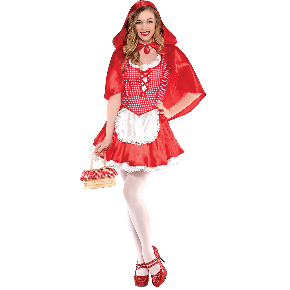 Teen Girls Miss Red Riding Hood Costume Image #1