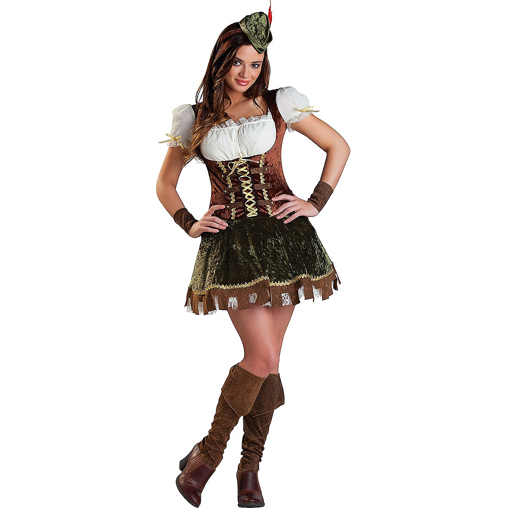Teen Girls Robin Hood Honey Costume Image #1