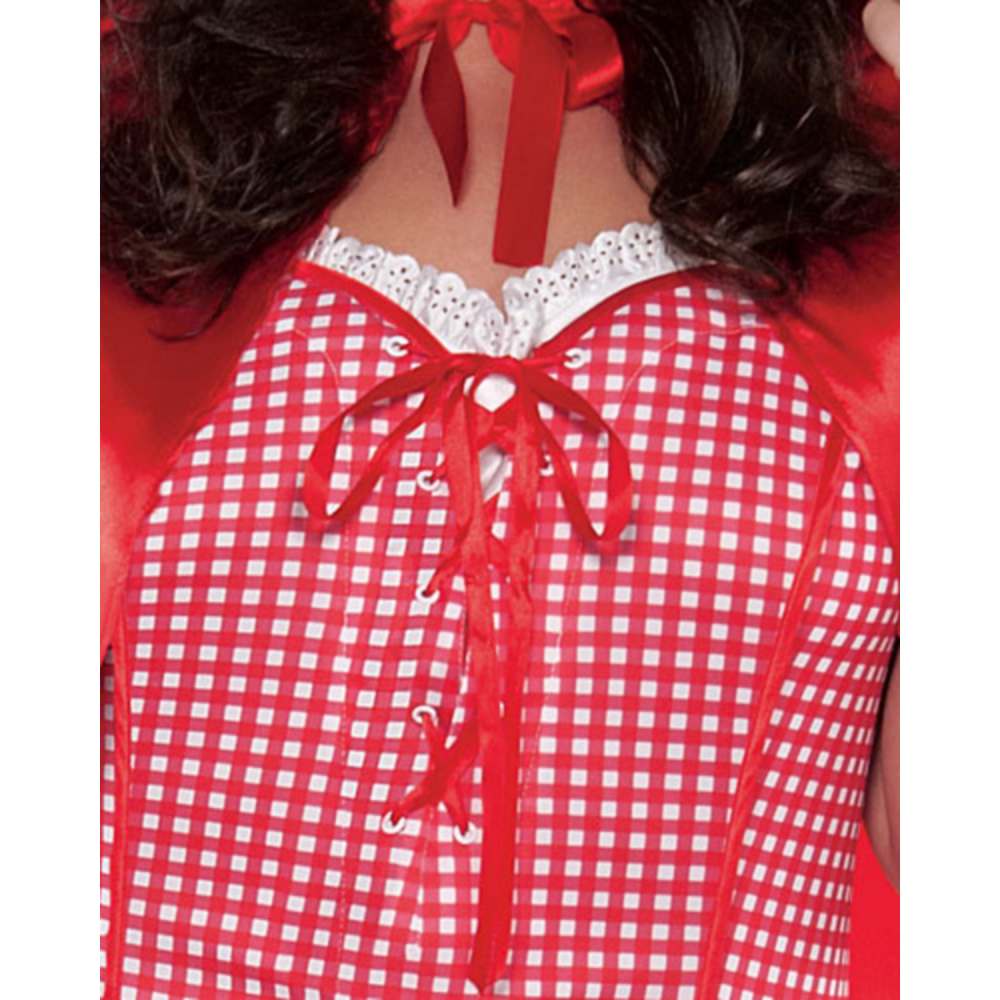 Adult Miss Red Riding Hood Costume Plus Size Image #3