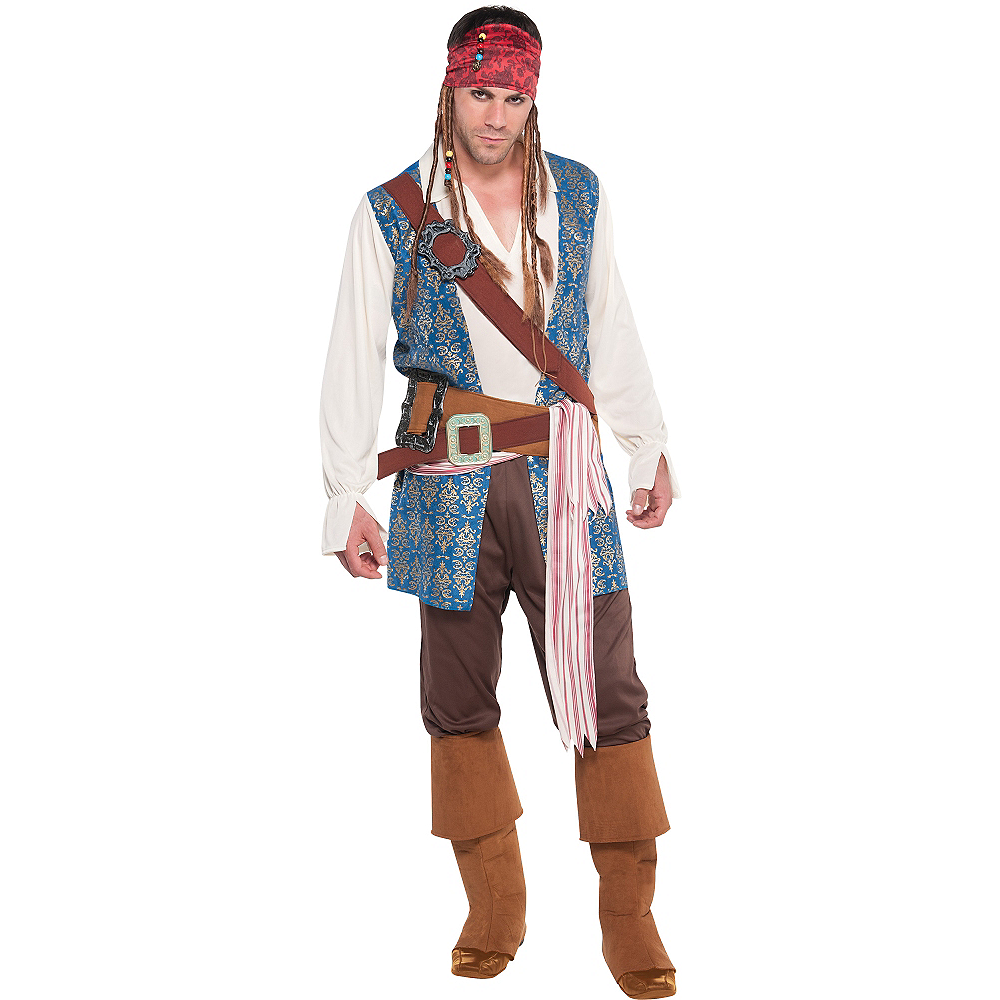Nav Item for Jack Sparrow Pirate Costume Adult Image #1
