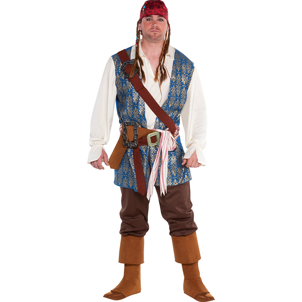 Adult Jack Sparrow Pirate Costume Plus Size Image #1