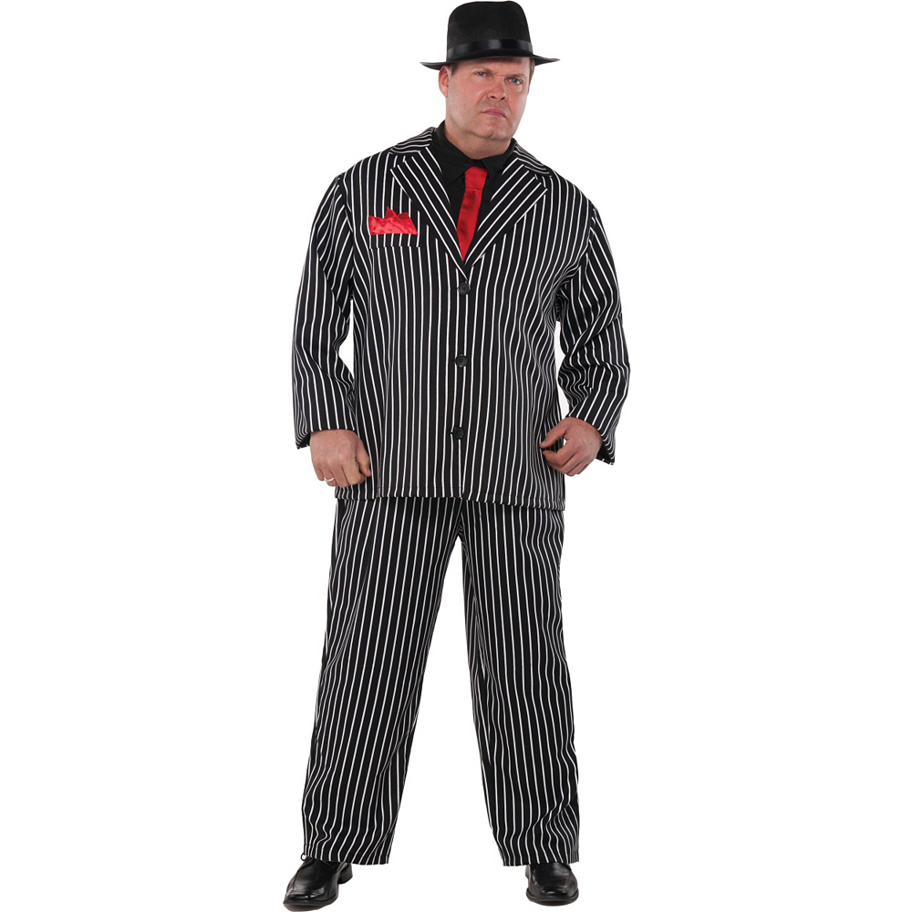 Adult Mob Boss Costume Plus Size Image #1