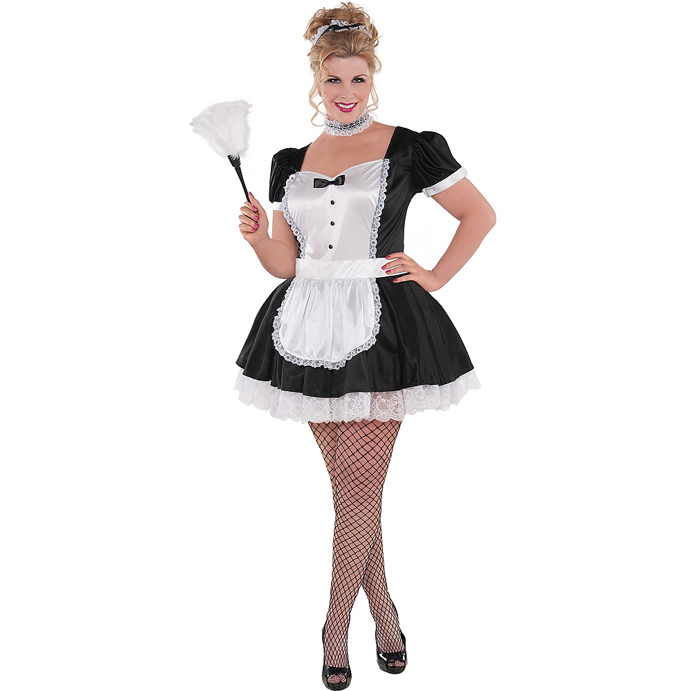 Nav Item for Adult Sassy Maid Costume Plus Size Image #1